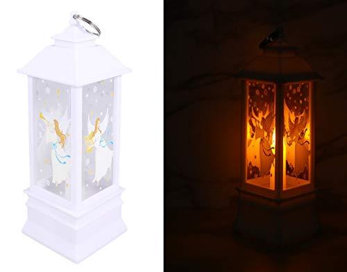 Uonlytech Weihnachtsengel dekorative Laternen tragbare Kerzenlampe hängende Laterne Dekor für Weihnachtsfeier nach Hause im Freien - Größe l