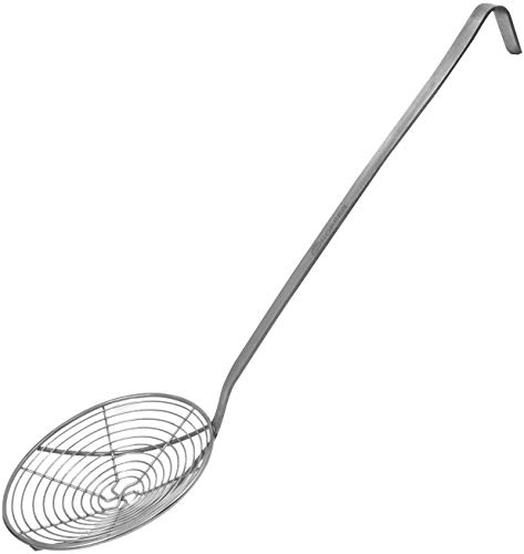 Whopper Edelstahl Mesh Net Sieb Schöpflöffel Draht Skimmer Löffel mit langem Griff für Home Kitchen Gebratene Nudeln und Braten 18 Zoll