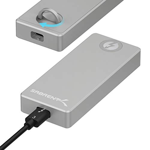 Sabrent Thunderbolt 3 zertifizier M.2 NVMe SSD werkzeugloses solides Aluminiumgehäuse (EC-T3NS)
