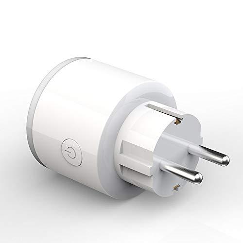Peanutaso Smart WiFi Socket App Interruptor de Temporizador de domótica para Control de Voz con RGB