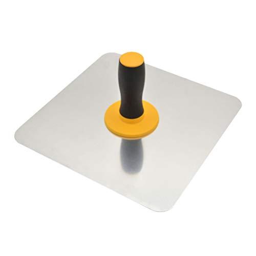 ULTECHNOVO Glättekelle mit Weichem Griff Maurerglättekelle Lehmplatte Schlammschaber Betonfliesen Nivellierwerkzeug