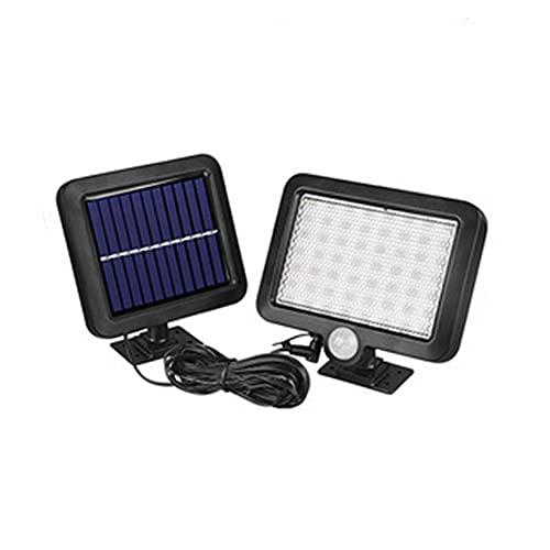 Betos Luces solares al aire libre, al aire libre, sensor de movimiento luz solar luces de seguridad solares impermeables apliques de iluminación lámparas para jardín valla patio garaje