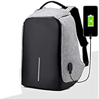 Anti Theft Back Pack with USB Charging Port - Black