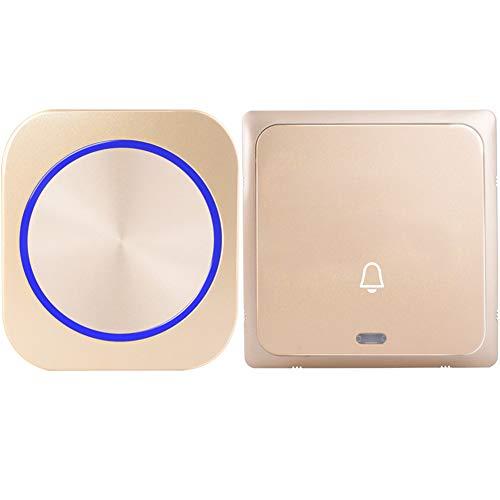 Plug Self-Aangedreven Draadloze Deurbel Deurbel Ring Call Geen Batterij 4 MODEL Waterdicht 1 Knop 1 2 Receiver