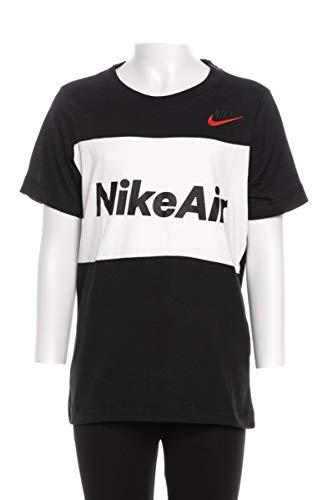 Nike Kinder Air T-Shirt, Black/White, M