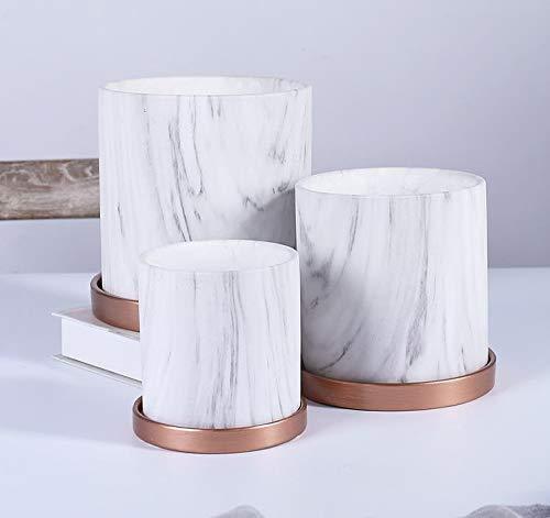 Pkfinrd Maceta colgante maceta cerámica redonda macetas simples personalidad literaria con bandeja rábano verde bonsái macetas verde planta 3 paquetes personalidad