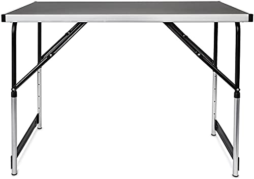 Photo of Unibos Folding Table Portable Camping Table 4 Adjustable Heights Outdoor Garden Table for BBQ Picnic Party Banquet