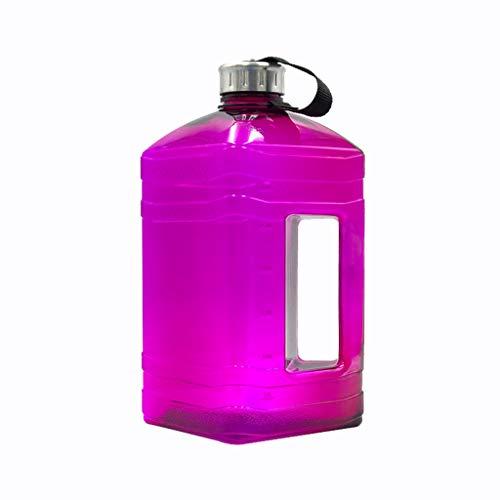 XeinGanpre 3.8L Gym gran capacidad de plástico cuadrado mancuernas portátil Deportes Botella de agua botella de agua para deporte fitness oficina