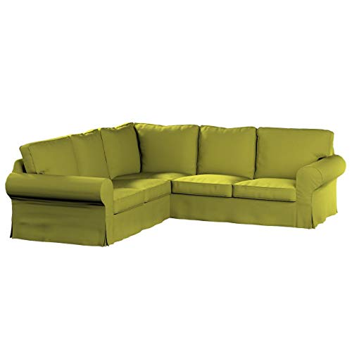 Dekoria Rivestimento per divano angolare Ektorp Rivestimento per divano, copridivano, fodere, adatto al modello Ikea Ektorp, limone