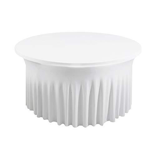Weddecor Spandex Tafelkleed Rok voor Bruiloft Feest, Restaurant, Banket, Eetdecoratie, Rekbaar en Elastisch Tafelkleed