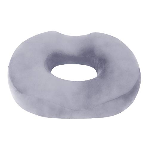 Donut Pillow Tailbone Seat Cushion - Orthopedic Design Coccyx Memory Foam Pillow Pain Relief |for Hemorrhoid, Pregnancy Post Natal, Surgery, Sciatica & Relieves Tailbone Pressure | Car Or Office Chair