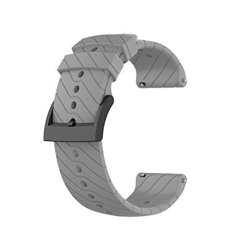 Meiruo 24mm Cinturino per Suunto D5 / Suunto 7 / Suunto 9/9 baro/Suunto Spartan Sport Wrist HR (Grigio)