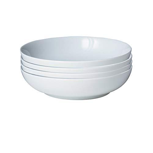 Denby 11048944 White By 4 Piece Pasta Bowl Set