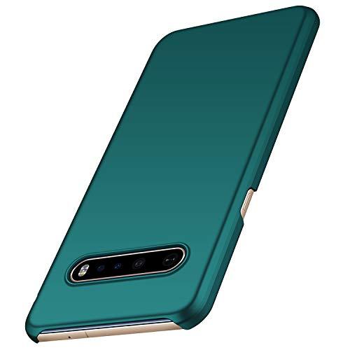 anccer Kompatibel LG V60 ThinQ Hülle [Serie Matte] Elastische Schockabsorption & Ultra dünnes Handyhülle Design für LG V60 ThinQ 5G (Grün)