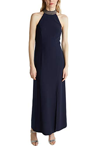 ESPRIT Collection Damen 040EO1E340 Kleid, 400/NAVY, 38