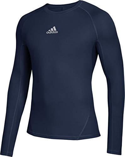 adidas Mens Long Sleeve Alphaskin Shirt Navy L
