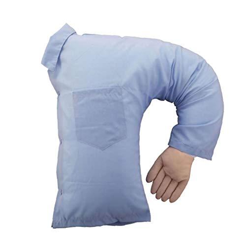 EElabper Boyfriend Body Pillow Arm Companion Cloth Light Blue U-Shaped Nap Fun Husband or Cuddle Buddy