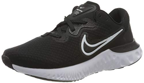 Nike Damen Renew Run 2 Running Shoe, Black/White-Dark Smoke Grey, 37.5 EU