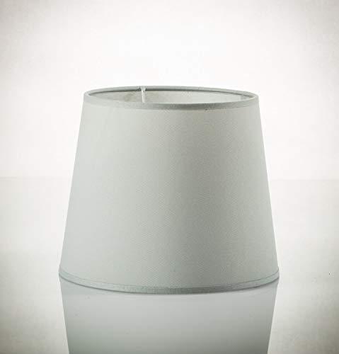 Großer Stoff Lampenschirm Hängelampe Grau für E27 H:30cm Ø38cm konischer Schirm Pendelleuchte
