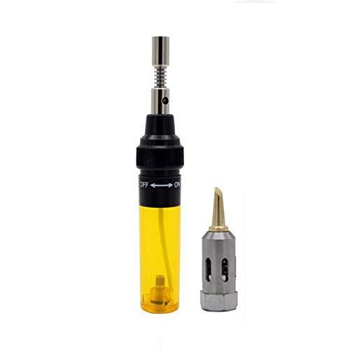Pistola de Soldador,Inalámbrico Portátil Gas Butano Bolígrafo para Soldador Herramienta (Yellow)