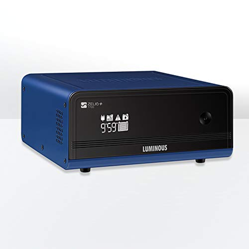 Luminous 1500VA Zelio + 1700 Sine Wave Inverter for Home, Office and Shops (Black & Blue)