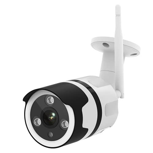 NETVUE Camaras de Vigilancia Wifi Exterior 1080P,Carcasa de Metal,Compatible con Alexa, Exterior IP66 Resistente al Agua Resistente al Polvo Estática con Visión Nocturna, por LAN & WiFi conexión