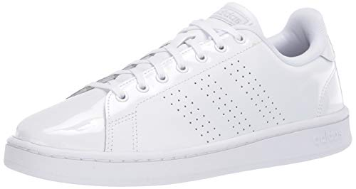 adidas womens Advantage Track and Field Shoe  Ftwr White/ Matte Silver/ Light Granite  8.5 US
