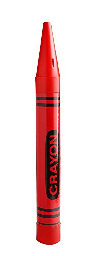 Universal Affect - Large Crayon Coin Savings Bank - Dimensions are approximately 22.5' Tall x 2.25' wide & deep - Color: Red