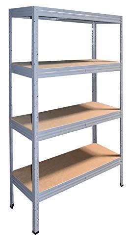 Shelf Creations EXPERT Schwerlastregal 230x120x30cm grau 4 Böden - Regal Kellerregal Metallregal...