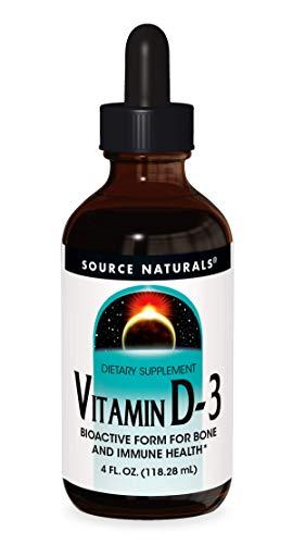 Source Naturals Vitamin D-3 Liquid Drops 2000 iu Supports Bone & Immune Health - 4 Fluid oz