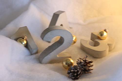 Beton Zahlen Set 1-4   Advent   Tischdeko   Adventskranz