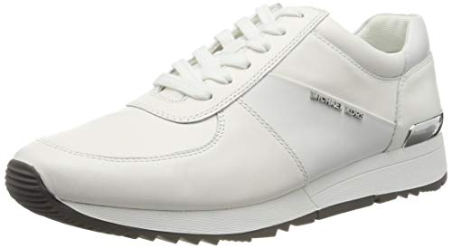 Michael Kors Optic White, Zapatos de Cordones Oxford Mujer, Blanco (Allie Trainer 43r5alfp3l), 40 EU