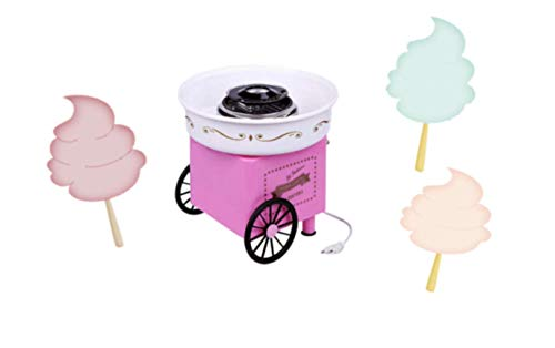 Cotton Candy Machine - Mini Cotton Candy Machine | Cotton Candy Machine for Kids | Comes with 10 Reusable Sticks and Sugar Scoop | Cotton Candy Maker for Kids