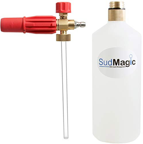 SudMagic Foam Cannon Pressure Washer Gun - Brass Threaded Bottle - Car Wash Soap Foam Blaster