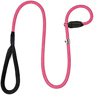 BeauGo Dog Slip Rope Leash, Premium Quality Mountain Climbing Rope Lead. Adjustable Collar Size Traction Rope for Dog . Ma...
