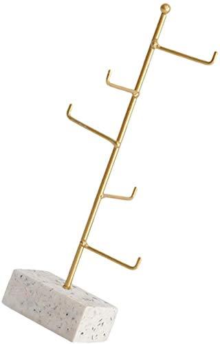 Leifeng Tower Multifunctional Cabilock Jewelry Tree Stand Jewelry Holder Holder Collar Pantalla Soporte Joyería Estante Organizador con Base para Collar Pendientes Pendientes