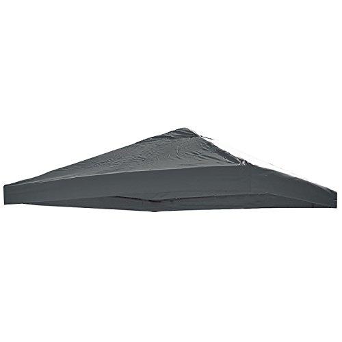 Mojawo Universal Ersatz Dach für Pavillon 3x3 M Anthrazit Wasserdicht PVC beschichtet 220gr. Polyester mit Luftluke
