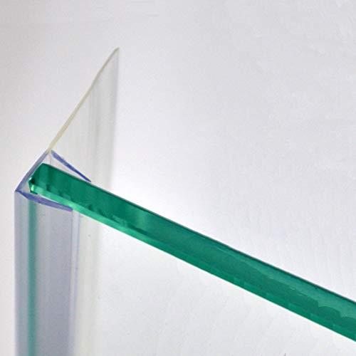 220cm - Guarnizione trasparente con ALETTA DA 23mm per SPESSORE VETRO da 6 ed 8mm, ricambio verticale per docce o ante/porte scorrevoli con vetro a giorno-GSAM8