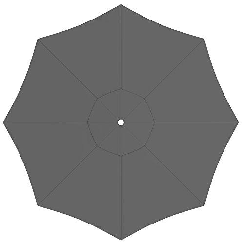 paramondo Sonnenschirm Bespannung Ink. Air Vent für interpara Sonnenschirm (3,5m / rund), grau