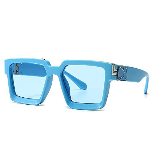 NIUBKLAS Gafas de sol cuadradas para mujer y hombre er Vintage UV400, gafas de sol Punk de gran tamaño para conducir, gafas de moda para hombre C8
