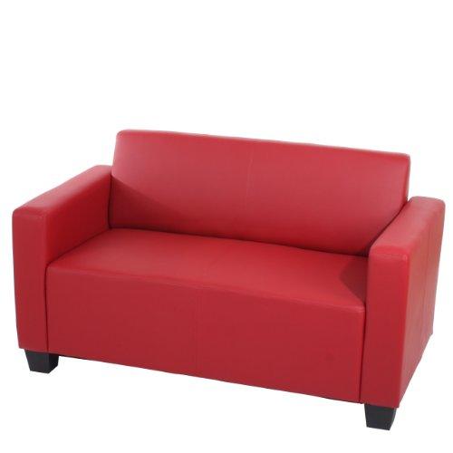 Mendler Sistema modulare Lione N71 salotto ecopelle divano 2 posti ~ rosso
