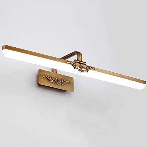 NDYD LED-Spiegel-Frontleuchte, wasserdicht Badezimmer-Spiegel-Licht Make-Up Licht American Retro Bad Spiegelschrank Lampen-Spiegel-Scheinwerfer Vanity-Licht, 8W41CM DSB (Color : 12w71cm)