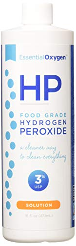 Essential Oxygen Food Grade Hydrogen Peroxide - 16 Ounce (Pack of 2)