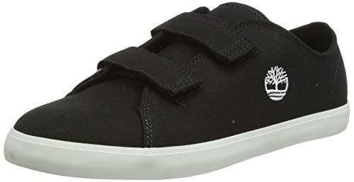 Timberland Newport Bay Canvas 2 Strap Oxford Sneaker, Unisex - Bambini, Nero (Jet Black) Tb0a2cu90151), 21 EU (4.5 UK)