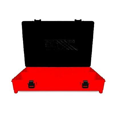 Evo 3POD - Caja de pesca Top Boxxx Evo (2.18) | Soporte superior del cajón/Seat Box | Accesorio ideal para el equipo de pesca como bobinas, hilo, carretes | Fabricado en Italia – Color rojo