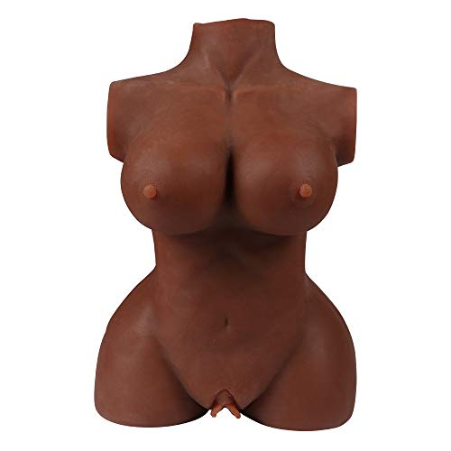 Xise Realistic 3D Love Doll Sex Toys for Men Male Masturbator with Vagina and Anal Discreet Package,13 Pound (Brown)
