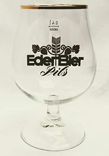 Eder Bier 0,4l Glas/Bierglas/Biergläser/Pils/Goldrand/Gastro/Bar/Sammler / 2er Set