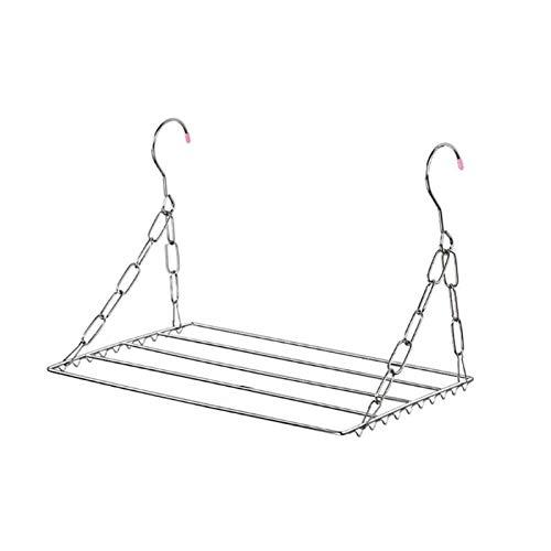 TETHYSUN Tendedero de ropa plegable para el secado, para el balcón, plegable, zapatero, tendedero, tendedero de acero inoxidable, ropa interior de lavandería (tamaño: 30 cm)