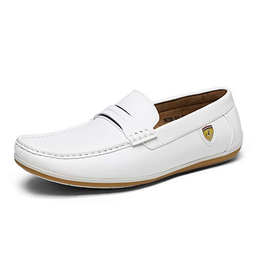 Bruno Marc Men's White Loafers - All Sizes