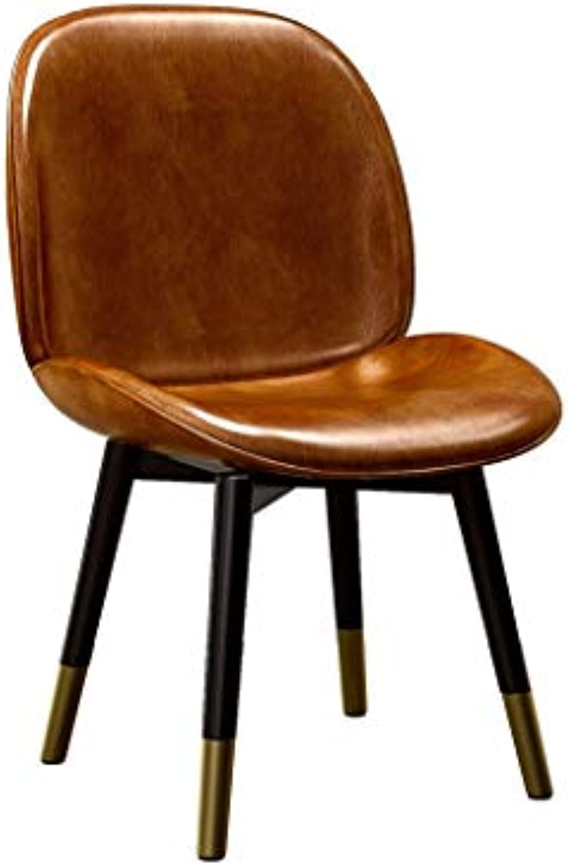 LRZS-Furniture LOFT Kreative Schmiedeeisen Einfache Moderne Weiche Sofa Nordic Lssig Designer Bürostuhl Esszimmerstuhl Rückenlehne Hocker (Farbe   braun)